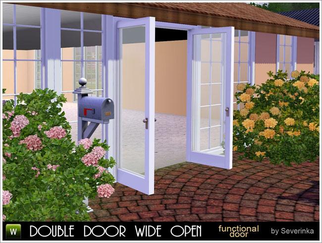 Double Door Wide Open by Severinka Door-o10