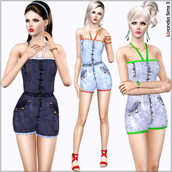 Denim Romper by Lore Lorand13