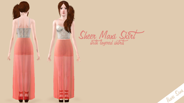 Sheer Maxi Skirt by Ikari Screen10