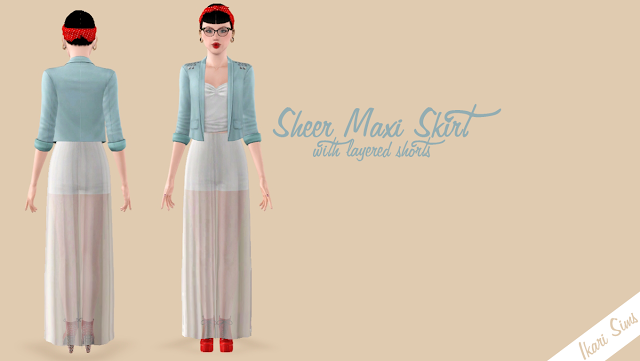 Sheer Maxi Skirt by Ikari Screen11