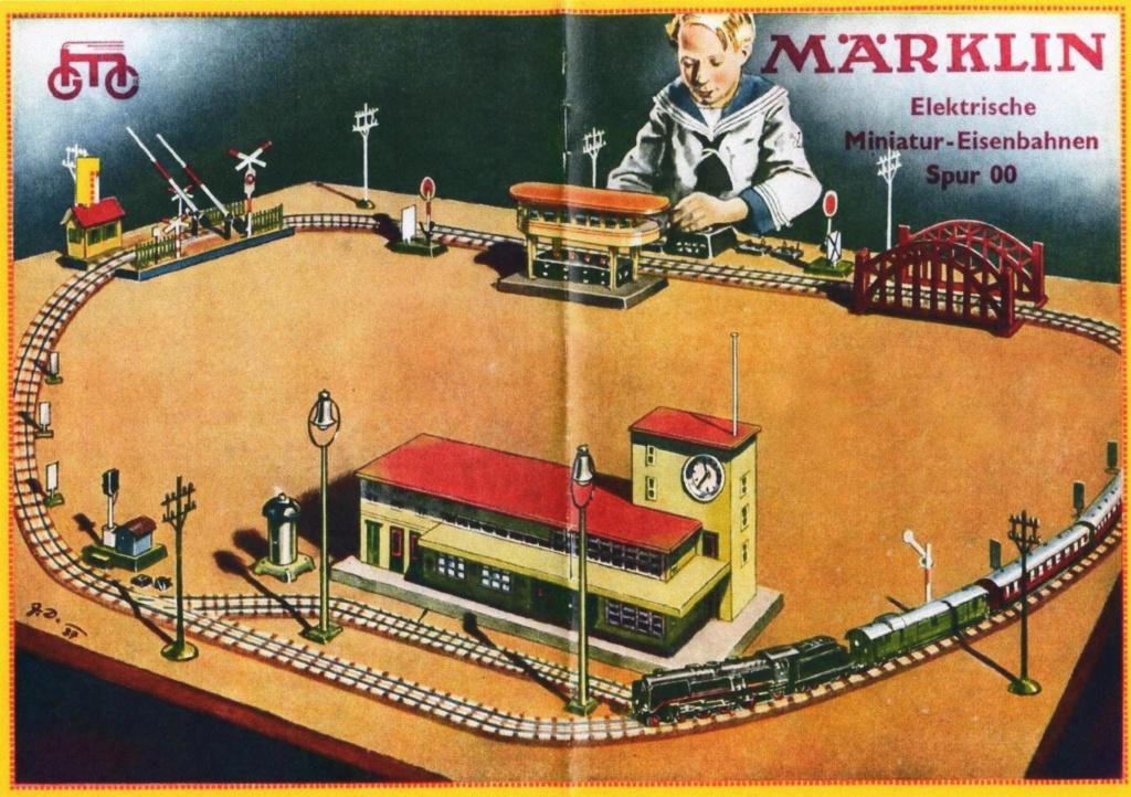 Voies Märklin anciennes et voie VB Trois rails 00712