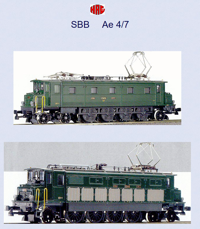 Démontage et REMONTAGE bloc moteur  Ae 4/7 11007 de Hag Captur60