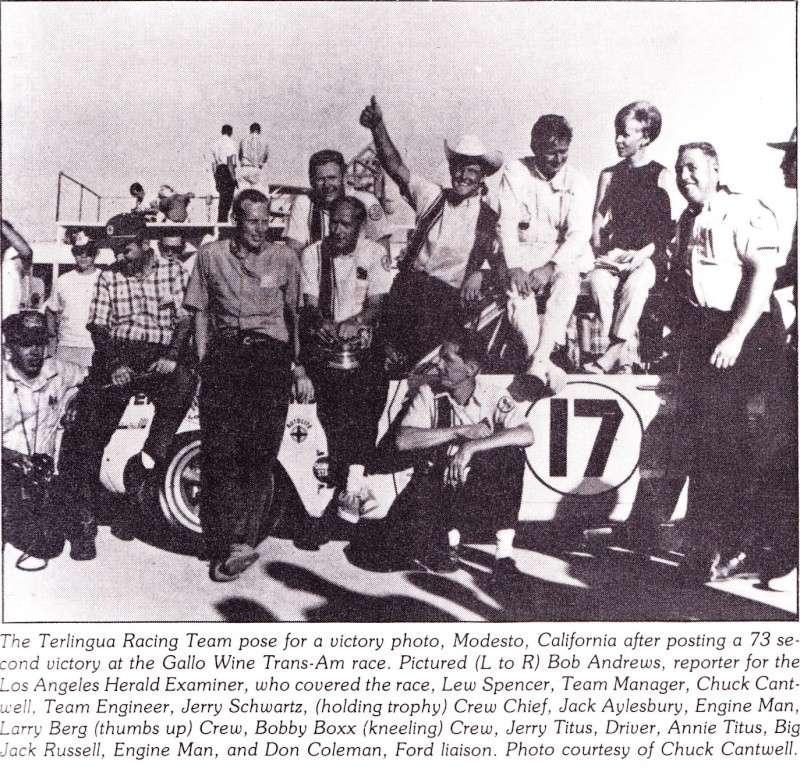 L'équipe de course Terlingua de Shelby-American en 1967 Terlin16