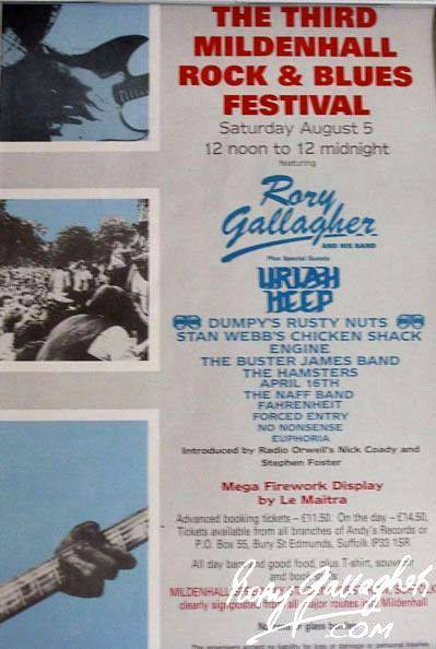 East Anglia Rock and Blues Festival - Mildenhall (UK) - 5 Août 1989 55310210