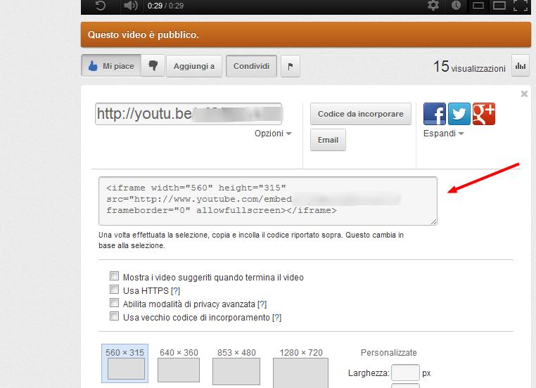Come condividere un video di Youtube sul proprio sito 20sy4b10