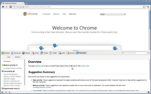 Constatare la velocità del proprio sito con il proprio browser tramite PageSpeed 2v3hbl12