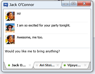 Chattare tramite il desktop nella chat di Facebook - Facebook Messanger per Windows 6qv48910