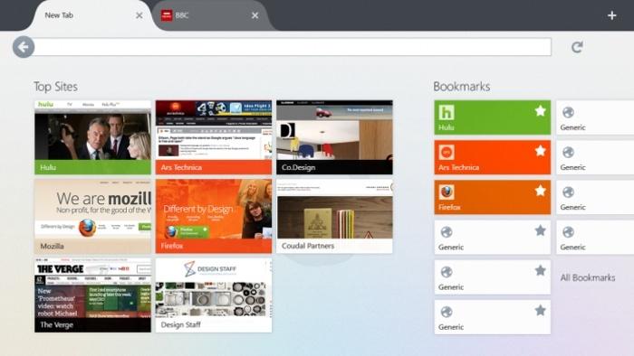 Firefox per Windows 8 - Firefox Metro Firefo10