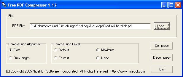 Ridurre dimensioni di un file PDF - Nice PDF Compressor Free-p10