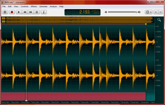 Editare e modificare i file audio con Ocenaudio Ocenau11