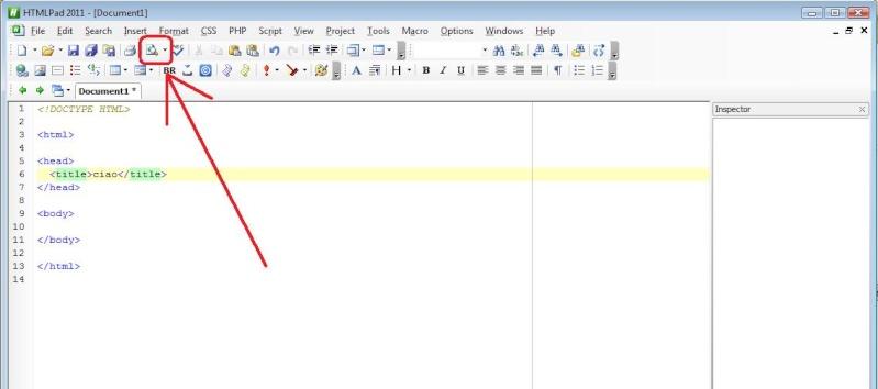 Come mostrare l'anteprima dei codici su HTMLPad 2011 Pad110