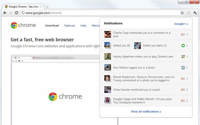 Avere le notifiche di Google Plus sempre a portata di mano su Chrome Qzevcm10