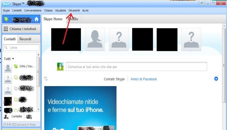 Come cambiare lingua su Skype Skype110