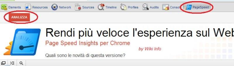 Constatare la velocità del proprio sito con il proprio browser tramite PageSpeed Speed10