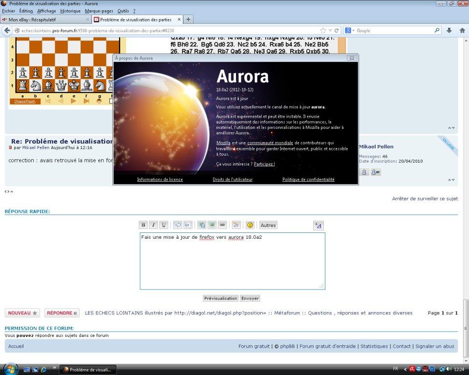 Probléme de visualisation des parties Aurora10