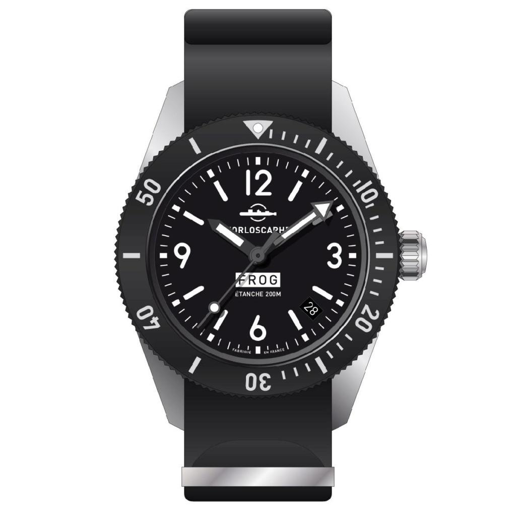édition spéciale FROG de la montre NC 001 d'Horloscaphe, un petit projet symapthique 65248811