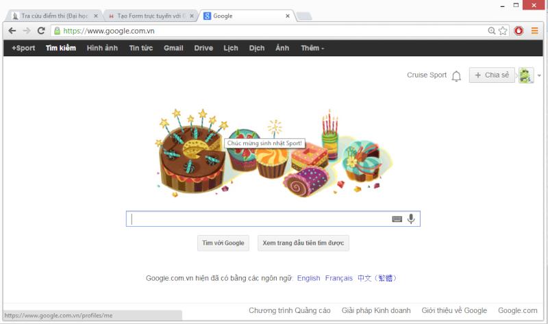 """Được """"vinh danh""""  nhờ... Google Sport10"""