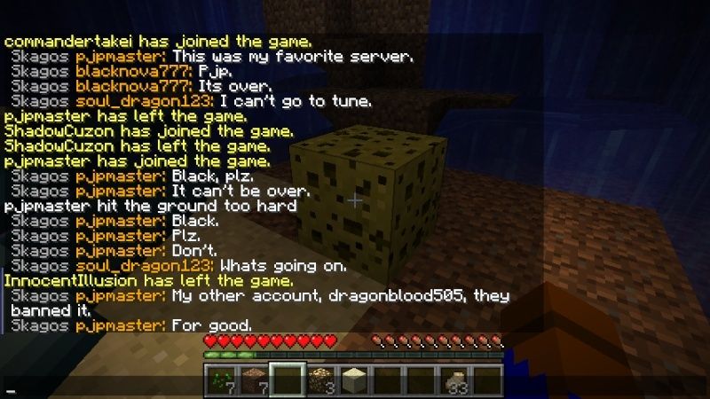 Dragonblood threatened the server.  2012-110