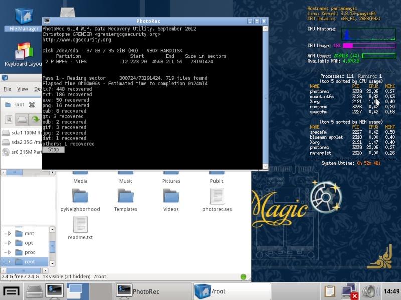 Ultimate Boot CD v5 : Tester son matériel, modifier une partition, supprimer un mot de passe de session, récupération de données... Recupe10