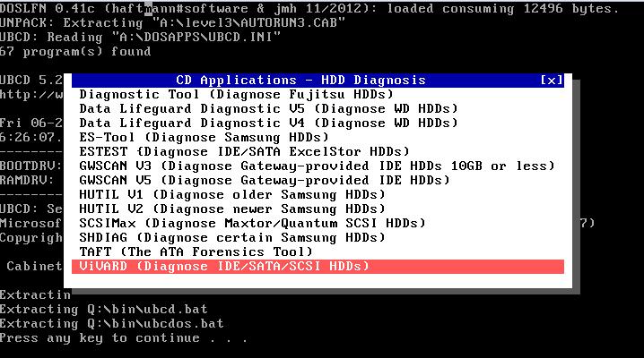Ultimate Boot CD v5 : Tester son matériel, modifier une partition, supprimer un mot de passe de session, récupération de données... Repris10