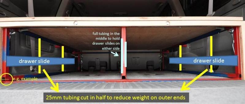 DIY sliding drawer system for Toyota Landcruiser 100 series 4wd_dr10