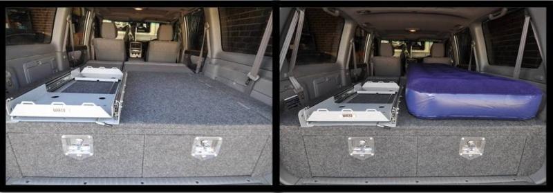 DIY sliding drawer system for Toyota Landcruiser 100 series Slide210