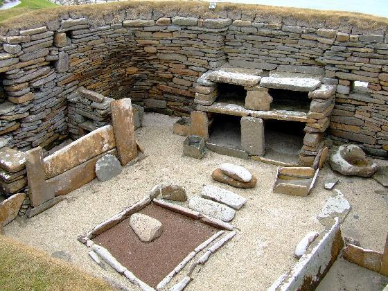 SKARA BRAE, un village du néolithique presque intact Neolit10