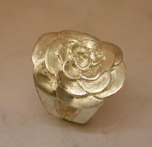 Bague Argent motif fleur Dscn2312