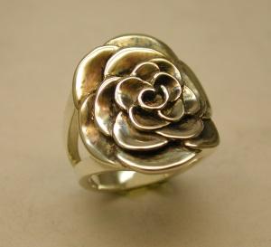 Bague Argent motif fleur Dscn2313