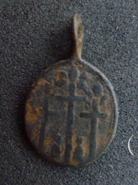 Médaille Ste-Reine et Pélerin en prière - XVII / XVIIIème 4_210