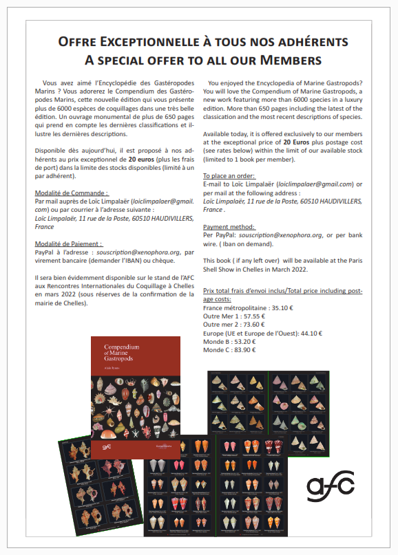 Compendium of Marine Gasteropods - A. Robin - Offre AFC Offre_10
