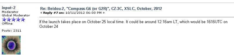 Lancement CZ-3C / Beidou-2-G6 à XSLC - Le 25 Octobre 2012 - [Succès]  Chinas10
