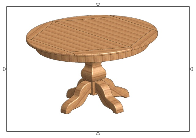 fabrication d'une table ronde Table11
