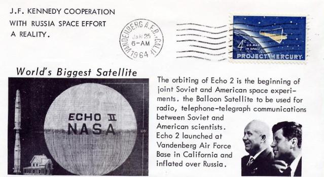 Philatélie Spatiale USA - 1960 - ECHO I 1964_011