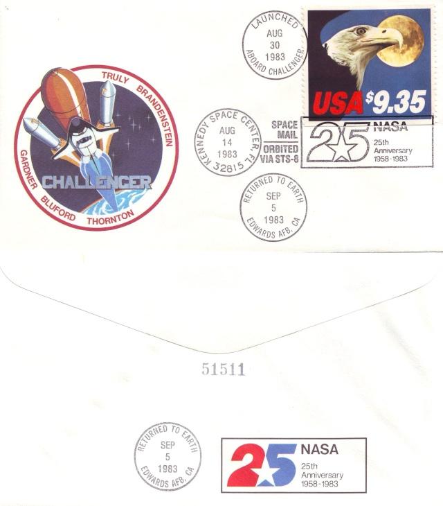 La première enveloppe ayant voyagé à bord d'une navette spatiale - Mission STS-8 1983_010