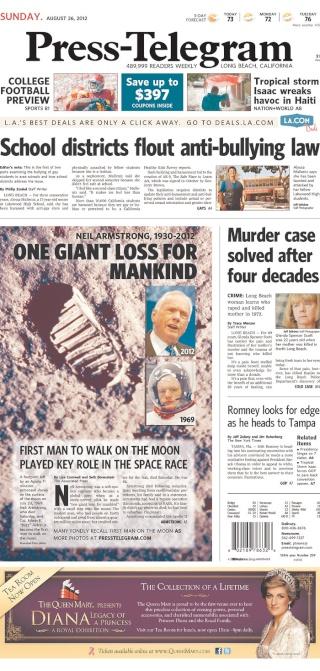 Disparition de Neil Armstrong - La couverture médiatique par la presse américaine 2012_012