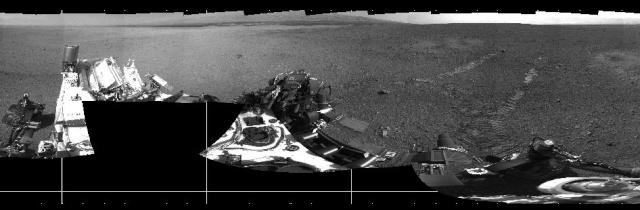 Le site d'atterrissage de Curiosity a été baptisé Bradbury Landing / Premier roulage 67940111