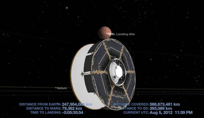 MSL et Curiosity arrivent sur la planète Mars Captur12
