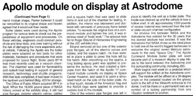 boilerplate - Boilerplate Apollo - Le BP-K du Space Center de Houston Captur24