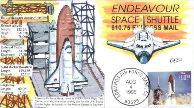 Philatélie Spatiale USA - 1995 - Navette Spatiale Endeavour Cln_2411