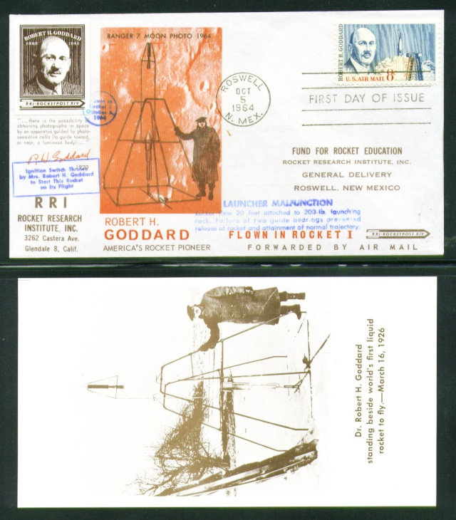 Philatélie Spatiale USA - 1964 - Robert H. Goddard Goddar10