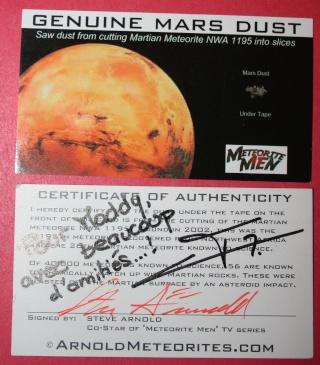 A défaut d'aller sur Mars, vous pouvez toucher Mars - Poussières de Mars Img_9515
