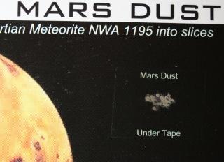 A défaut d'aller sur Mars, vous pouvez toucher Mars - Poussières de Mars Img_9516