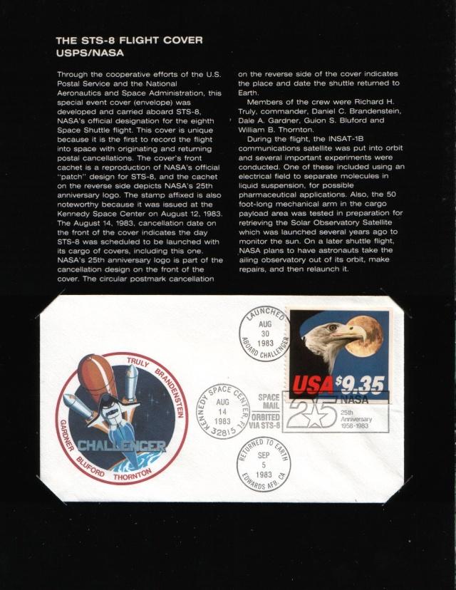 La première enveloppe ayant voyagé à bord d'une navette spatiale - Mission STS-8 Sts-8_11