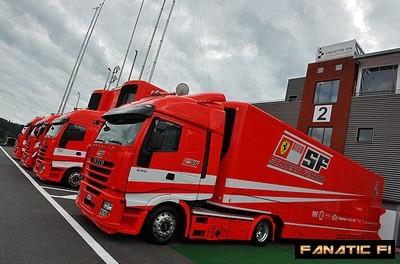 SKIN : Scania Ferrari F1 Team + Remorque Camion10
