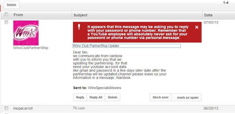 Spammers and Tricksters from YouTube 32032610