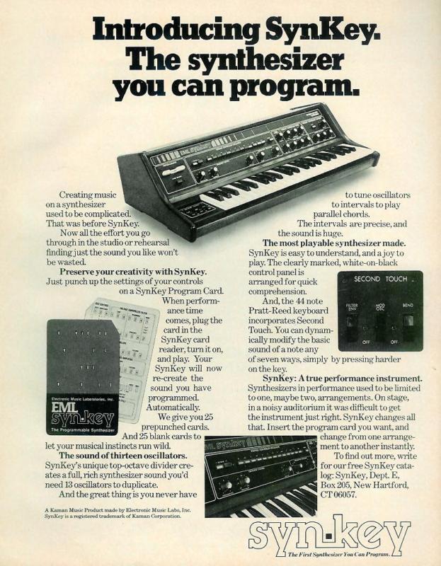 Electronic Music  Laboratories (E.M.L) B7z49110