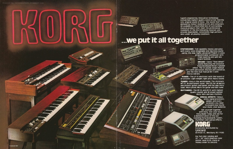 Korg, introduction et les années analogiques Korg_f10