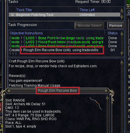 crafting quest won't update Update10