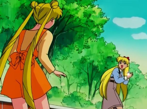 Differences between Usagi's and Minako's blonde hair Kikiki10